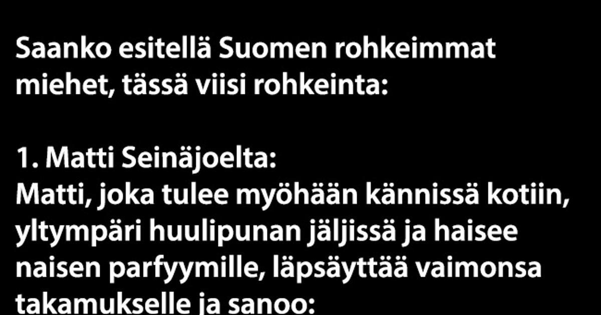 vitsejä miehistä Lappeenranta